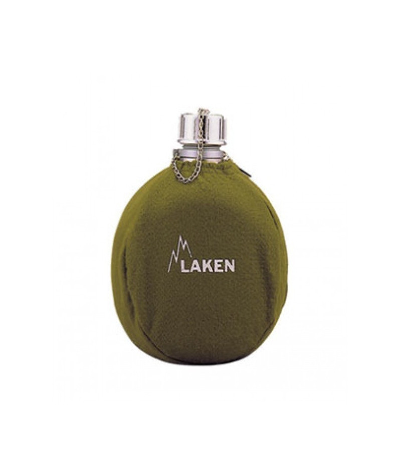 LAKEN CANTEEN ALU aluminum bottle 1000ml Clasica green + neoprene cover