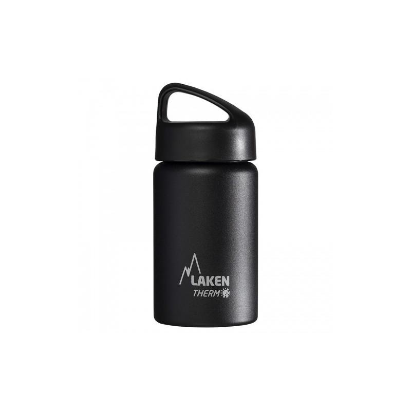 St. steel thermo bottle 18/8 - 0,35L - Black