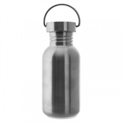 Stainless steel Basic bottle 0.5 L - St. steel scr