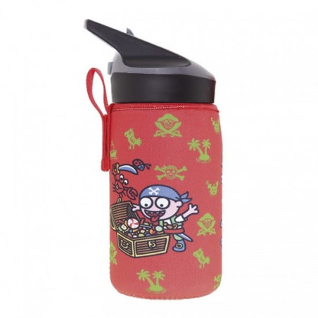 Tritan bottle 0,45L Katuki - neoprene cover Pirati