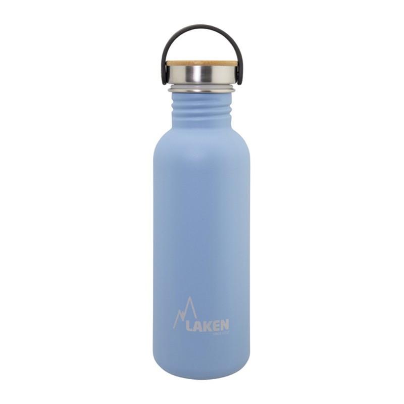 Basic Steel Bottle 750ml ,Bamboo S/S Cap - Blue