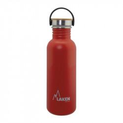 Basic Steel Bottle 750ml ,Bamboo S/S Cap - Red