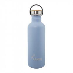 Basic Steel Bottle 1L ,Bamboo S/S Cap - Blue