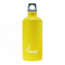 Alu. Bottle Futura 0,6 L.-Grey Cap -Yellow Bot.