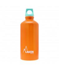 Alu. Bottle Futura 0,6 L.-Blue Cap -Orange Bot.