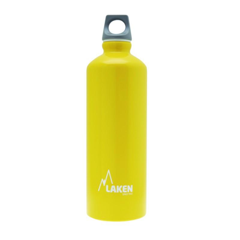 Alu. Bottle Futura 0,75 L.-Grey Cap -Yellow Bot.