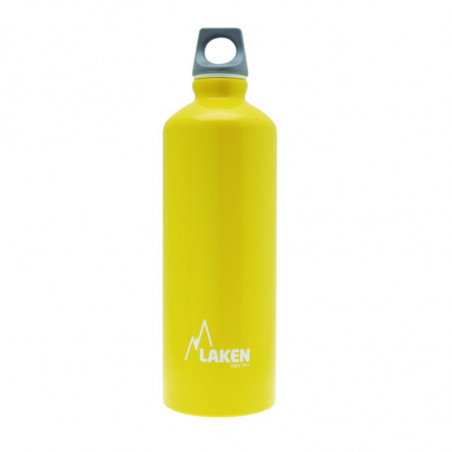 Alu. Bottle Futura 0,75 L.-Grey Cap -Yellow Bot.