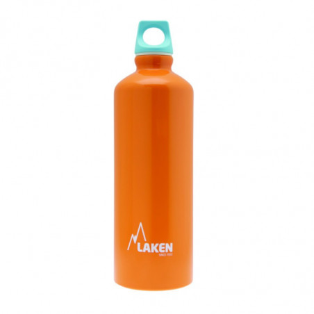 Alu. Bottle Futura 0,75 L.-Blue Cap -Orange Bot.