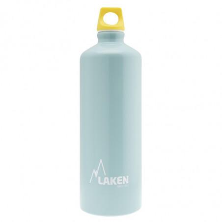 Alu. Bottle Futura 1 L.-Yellow Cap -Light blue Bot
