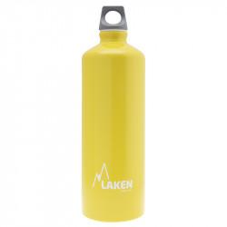 Alu. Bottle Futura 1 L.-Grey Cap -Yellow Bot.