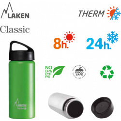 LAKEN CLASSIC THERMO stainless thermo bottle 500ml black