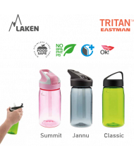 LAKEN JANNU TRITAN plastová flaša 450ml svetloružová BPA FREE