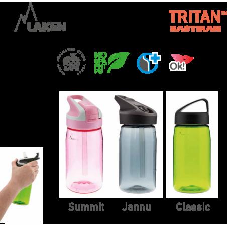 LAKEN JANNU TRITAN plastová flaša 450ml svetlozelená BPA FREE