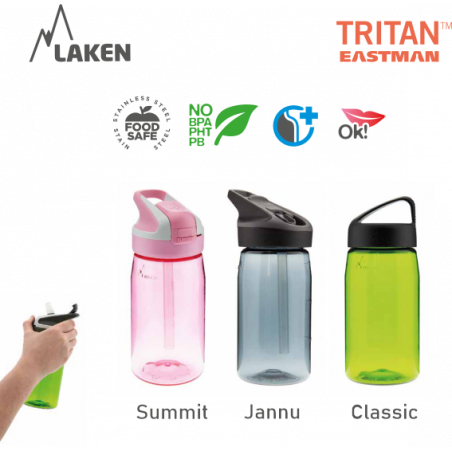 LAKEN TRITAN CLASSIC plastic bottle 750ml green BPA FREE