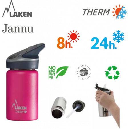 LAKEN JANNU THERMO stainless thermo bottle 750ml red