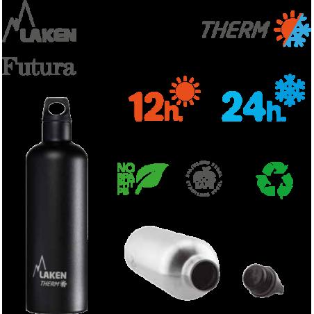 LAKEN FUTURA THERMO stainless thermo bottle 750ml silver